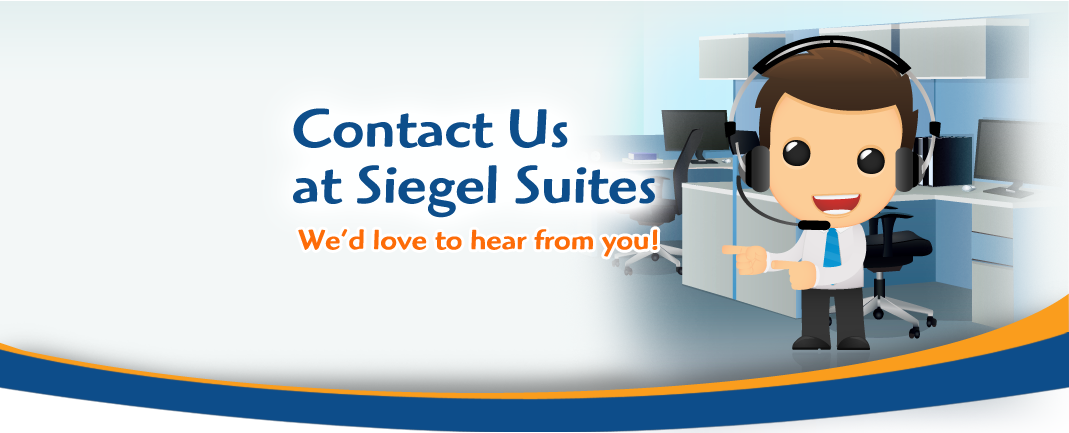contact us banner - Siegel Suites low cost flexible stay apartments