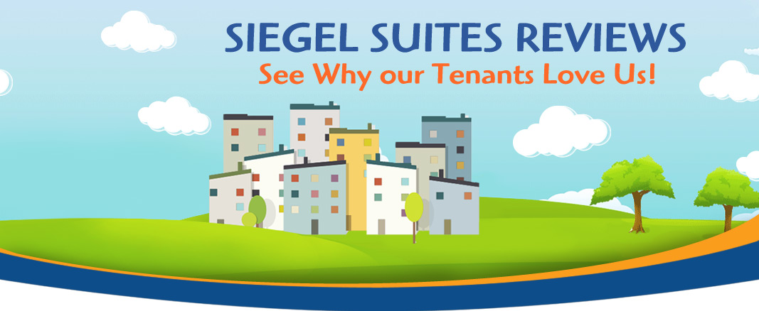 reviews banner - Siegel Suites low cost flexible stay apartments