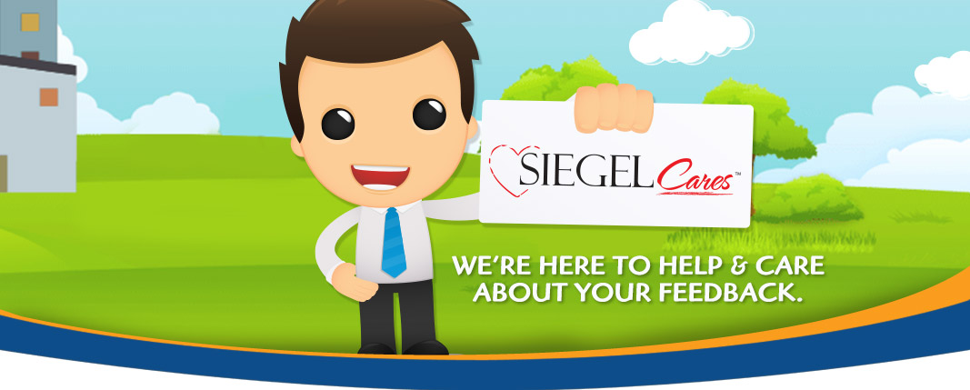 Siegel Cares banner - Siegel Suites low cost flexible stay apartments